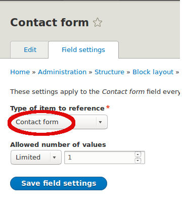 Placing the Contact form in a block in Drupal 8 | Peacog Web