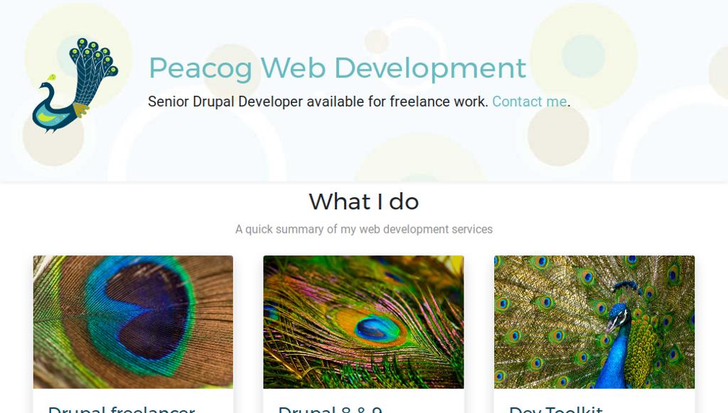 Portfolio of Drupal projects   Peacog Web Development